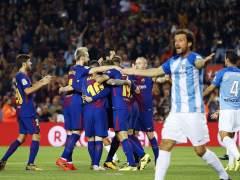 El Barça mantiene el liderato de la Liga tras vencer al Málaga
