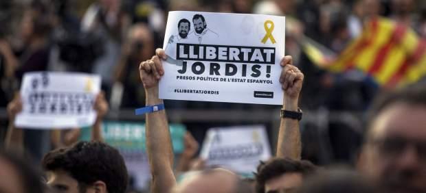 Manifestación para pedir la libertad de los Jordis