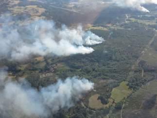 Varios focos de incendio en Piñor