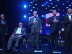 Los cinco expresidentes vivos de EEUU recaudan fondos tras los huracanes