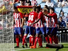 El Atlético sufre para llevarse de Balaídos tres puntos de oro