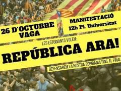 Estudiantes de Cataluña convocan una huelga el jueves 26
