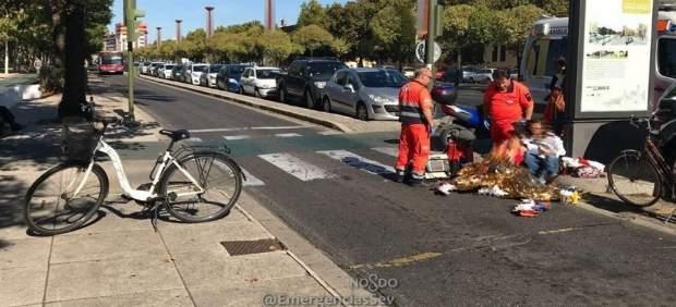 Accidente con una ciclista en Sevilla