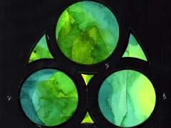 Una exposición descubre los diseños de los vitrales de la Sagrada Familia