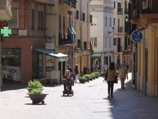 Calle de Sarrià en Barcelona.