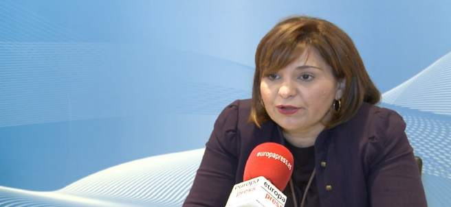 Isabel Bonig en una entrevista amb Europa Press