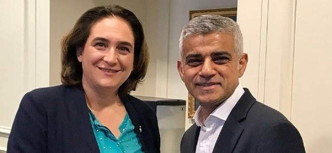 Encuentro de Colau con el alcalde de Londres, Sadiq Khan