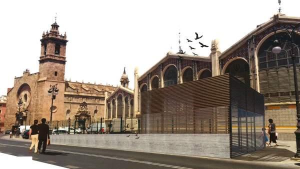 Proyecto del parking de la plaza Ciudad de Brujas