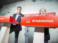 PSOE y PSC muestran unidad e intentan apagar las críticas internas por el 155