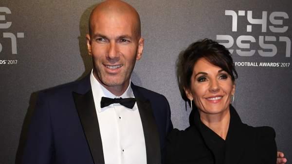 Zidane y su mujer Veronique