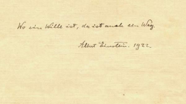 29466f33b1 Salen a subasta dos notas de Einstein que dejó a un mensajero como propina