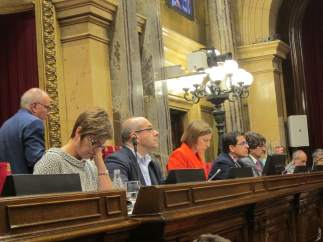 La mesa del Parlament en el pleno de este martes.