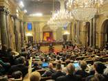 El pleno del Parlament con Puigdemont
