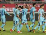 Gol de Alcácer con el Barça