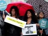 Protesta para pedir la excarcelación de defensores de derechos humanos en Estambul (Turquía)