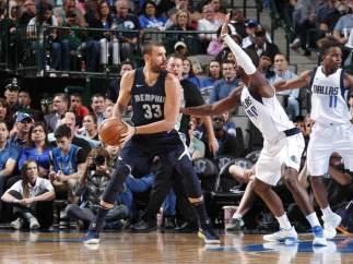 Marc Gasol en el Memphis Grizzlies - Dallas Mavericks