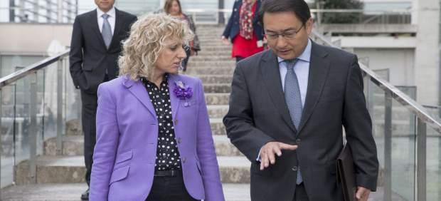 Díaz Tezanos con el embajador de China en España