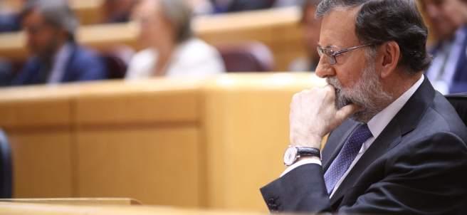 Rajoy sigue el pleno en el Senado sobre el artículo 155
