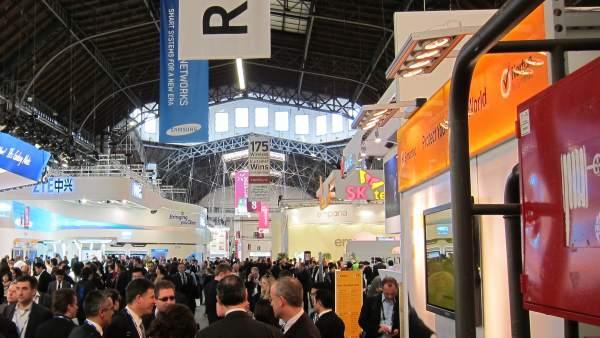 El MWC Repleto De Visitantes. Mobile World Congress.