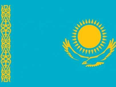 Bandera de Kazajistán.