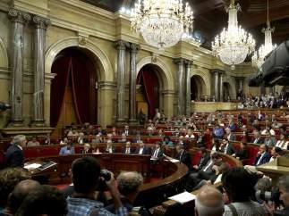 Pleno del Parlament de Catalunya de respuesta a la aplicación del artículo 155.