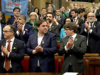 Junqueras y Puigdemont