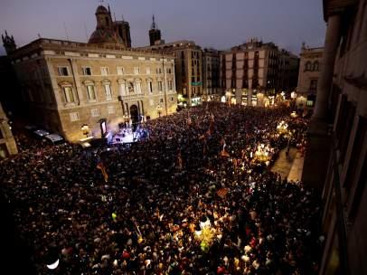 Manifestación tras la independencia