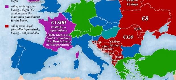 la prostitución es ilegal en españa putas en italia