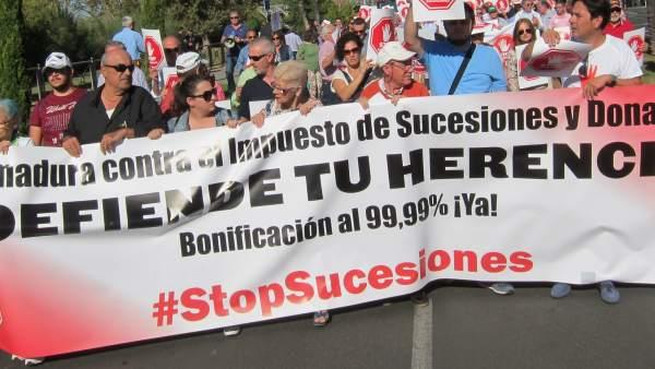 Manifestación STOP sucesiones