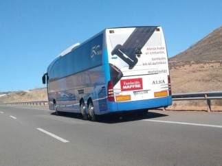 Autobús en el que se ha producido la falsa amenaza de bomba