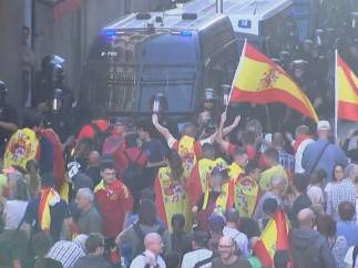 Españoles en Barcelona.