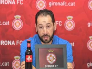 El entrenador del Girona FC, Pablo Machín