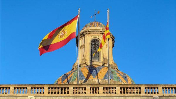 Bandera española en la Generalitat