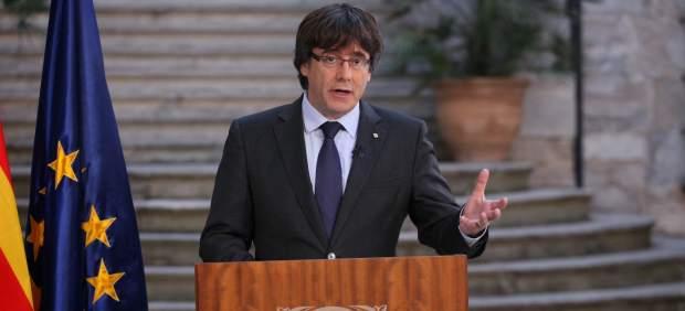 Declaración institucional de Carles Puigdemont desde Girona