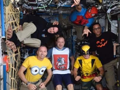 Astronautas de la Estación Espacial Internacional