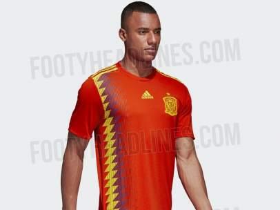 ¿Los colores de la bandera republicana en la camiseta de la selección  española  251e5b49fd6ad