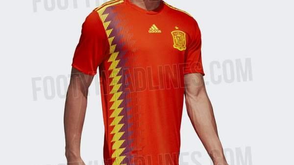 ¿Los colores de la bandera republicana en la camiseta de la selección  española  311bf532aebd4