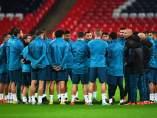 Entrenamiento del Real Madrid en Wembley