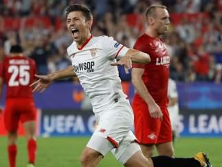 Gol de Lenglet en el Sevilla - Spartak