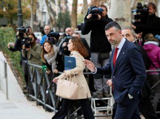 Santi Vila llega a la Audiencia Nacional