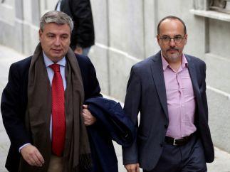 Carles Campuzano (d) y Jordi Xuclà (i), cerca del TS