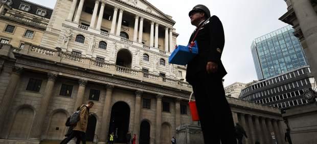 La fachada del Banco de Inglaterra
