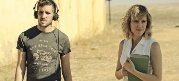 Natalia de Molina durante el rodaje de 'Animales sin collar'.