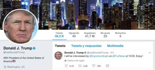 Donald Trump en Twitter