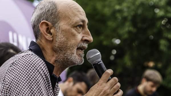Jesús Montero, secretario general saliente de Podemos en la ciudad de Madrid.