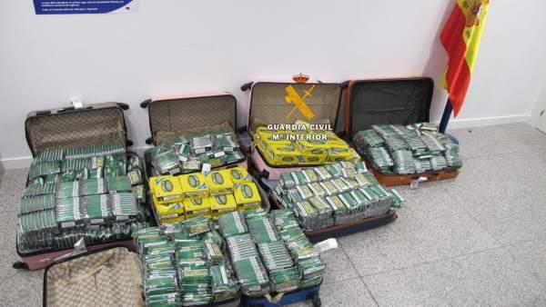 Tabaco de contrabando intervenido en el aeropuerto de Málaga