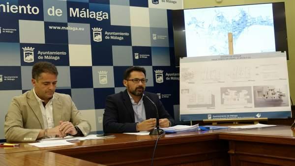 Carlos Conde y Paco Pomares concejales PP Ayto Málaga hotel tomas de cozar