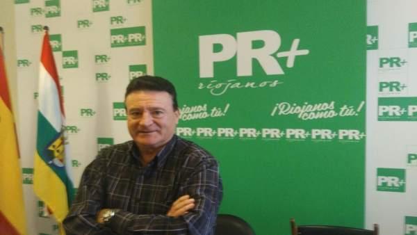 El concejal del PR+ en Viguera, Francisco Jalón