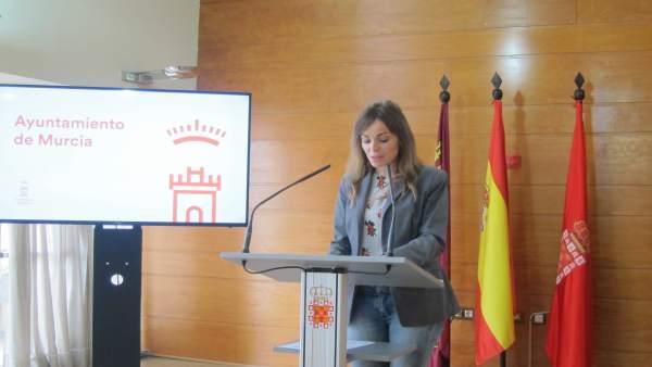 La portavoz municipal, Rebeca Pérez