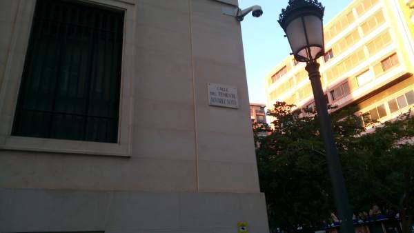 Una de las calles que fueron modificadas